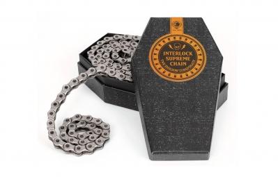 shadow chaine demi maillon 1 8 interlock supreme gun metal grey