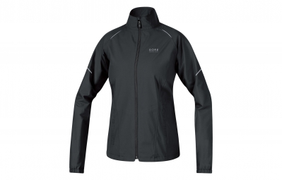 gore running wear veste essential gore tex active lady noir