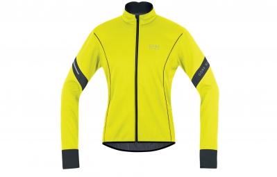 gore bike wear veste power 2 0 windstopper soft shell jaune fluo noir