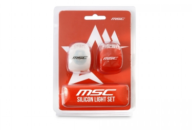 msc bikes eclairage avant et arriere securite led blanc rouge