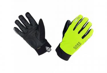 gore bike wear gants universal gore tex thermo jaune fluo noir