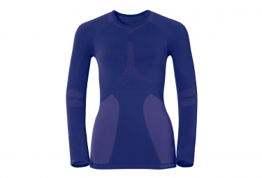 odlo t shirt manches longues femme evolution warm bleu