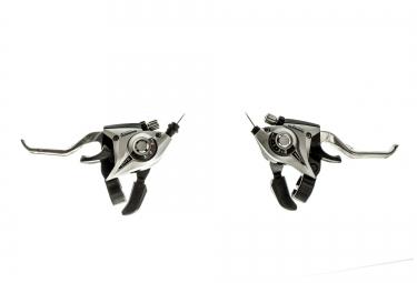 shimano paire de commande de vitesses levier de frein acera st ef51 3x7v argent