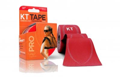 kt tape bande predecoupee pro rouge 20 bandes