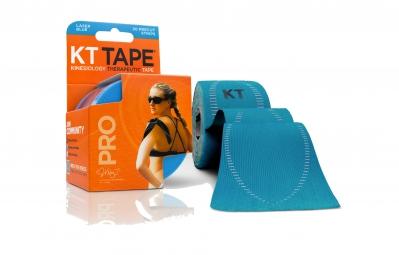 kt tape bande predecoupee pro bleu clair 20 bandes
