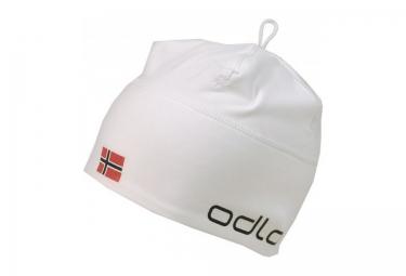 odlo bonnet polyknit team norvege blanc