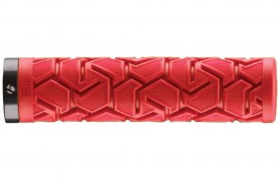 bontrager paire de grips race lite plus 130mm rouge
