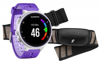 garmin montre gps forerunner 230 pack hrm blanc violet