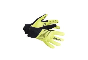 craft paire de gants storm jaune noir