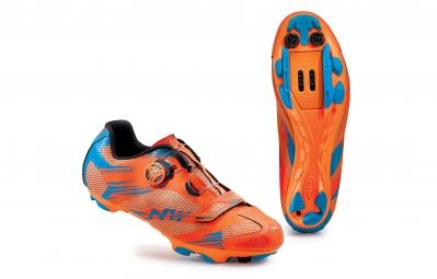 chaussures vtt northwave scorpius 2 plus orange bleu