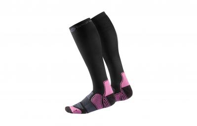 skins chaussettes de compression actives essentials femme noir rose