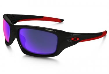oakley paire de lunettes valve black positive red iridium ref oo9236 02