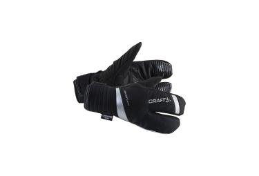 craft paire de gants 3 doigts shield noir