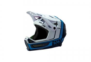 casque integral ixs xult blanc bleu