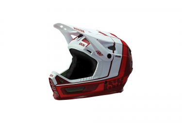 casque integral ixs xult blanc rouge