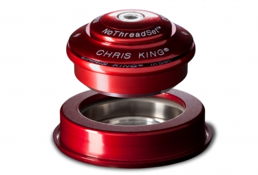 chris king jeu de direction inset 2 semi integre conique 1 1 8 1 5 rouge