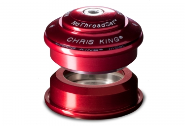 chris king jeu de direction inset 1 semi integre 1 1 8 rouge