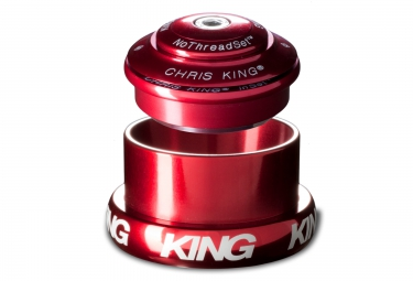 chris king jeu de direction inset 3 haut semi integre bas externe conique rouge