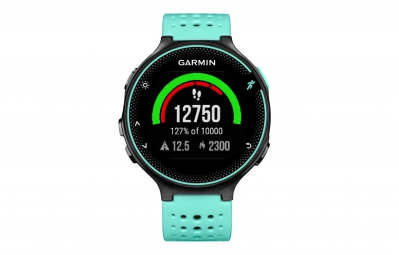 garmin montre gps forerunner 235 cardio frequencemetre integre noir bleu frost