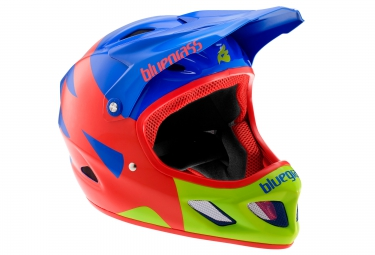 casque integral bluegrass explicit 2016 bleu rouge vert