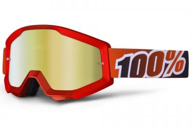 100 masque strata fire red rouge ecran rouge iridium