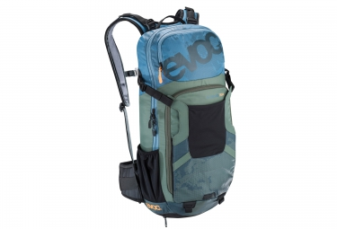 evoc 2016 sac protector enduro team 16l bleu vert