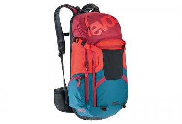 sac a dos evoc protector trail team 20l bleu rouge