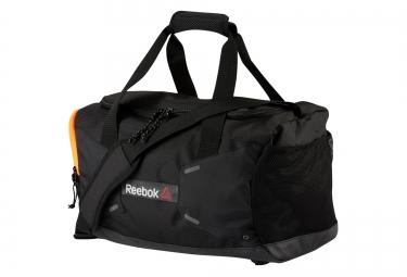 reebok sac de sport one series small 32l noir orange