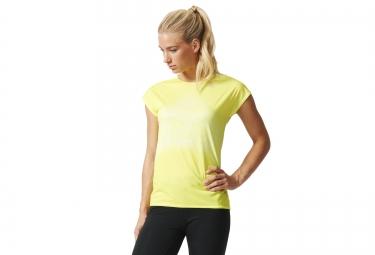 adidas t shirt femme adizero climacool jaune