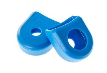 race face paire de proteges manivelles alu boot pedal bleu