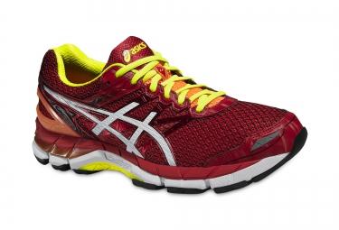chaussures de running asics gt 3000 4 rouge jaune