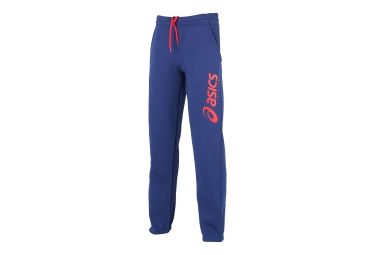 asics pantalon performance bleu orange femme