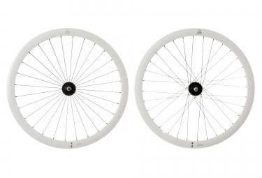 gipiemme paire de roues pista a40 fixed 700c blanc