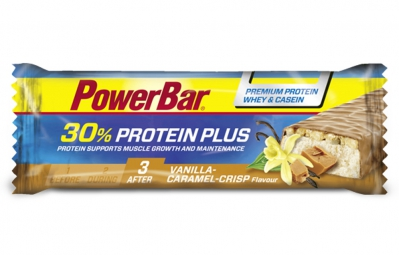 powerbar barre proteinee 30 protein plus 55gr vanille caramel crisp