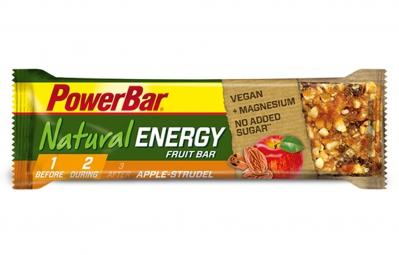 powerbar barre natural energy fruit 40gr pomme strudel
