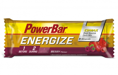 powerbar barre energize c2max 55gr fruit rouge