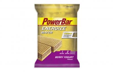 powerbar gauffrette energize wafer 40gr fruits rouges yaourt