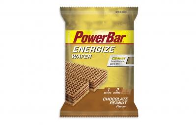 powerbar gauffrette energize wafer 40gr chocolat cachuetes