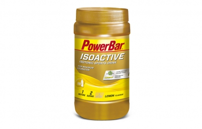 powerbar boisson energetique isoactive citron 600gr