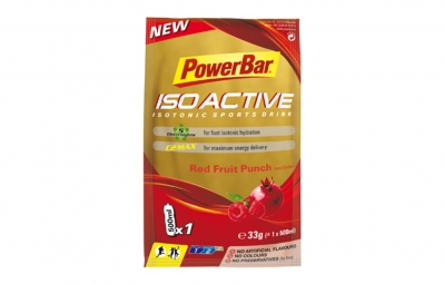 powerbar boisson energetique isoactive fruits rouges 33gr