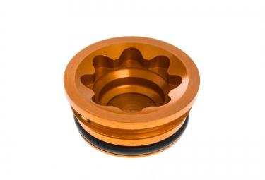 hope bouchon de piston d etrier large bore cap pour frein v4 orange