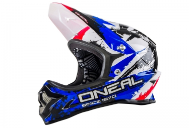 casque integral oneal backflip fidlock dh rl2 shocker 2016 noir bleu rouge