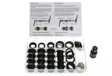 wheels mfg kit universel d adaptateurs bb30 pf30 pour pedaliers shimano sram