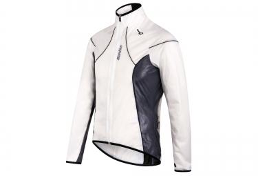santini veste impermeable ice blanc noir