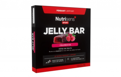 nutrisens pate de fruits jelly bar 4 x 25g framboise