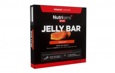 nutrisens pate de fruits jelly bar 4 x 25g abricot