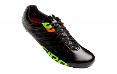 chaussures route giro empire slx noir verni orange vert
