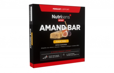 nutrisens barre energetique amand bar etuit de 4 x 25g amande figue miel