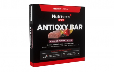 nutrisens barre energetique antioxy bar 4 x 25g banane pomme cassis