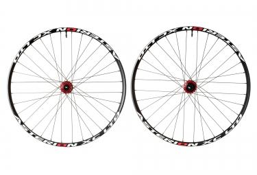 asterion paire de roues xc ltd 27 5 rouge axes 15mm avant 142x12mm arriere corps de